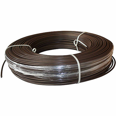 White Lightning Coated Electric 12.5 Gauge Wire Fence 1,320 ft. Roll, Brown