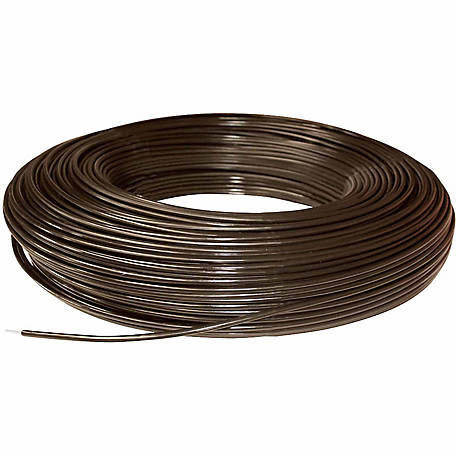 PolyPlus Coated Non-electric 12.5 Gauge Wire Fence 1,320 ft. Roll, Brown