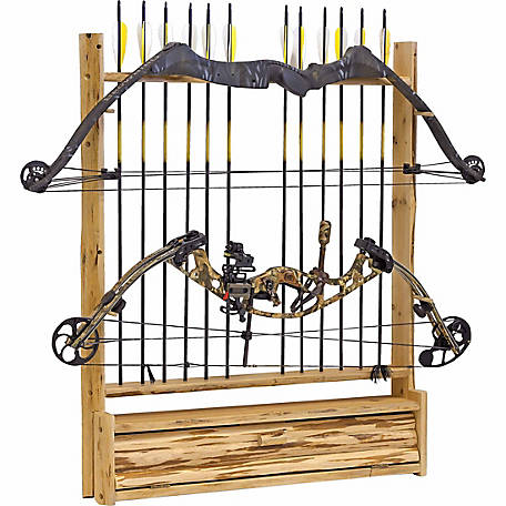 Rush Creek Creations 2-Bow 12-Arrow Wall Rack with Storage