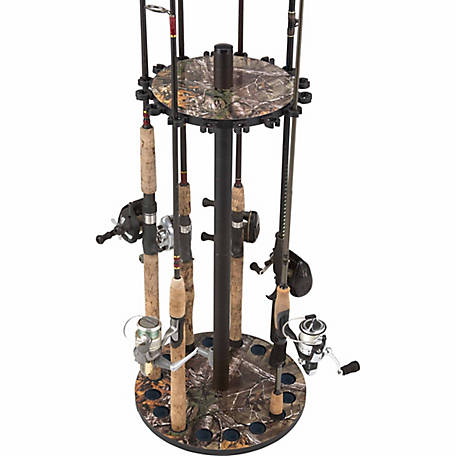 Rush Creek Creations 16-Rod Round Rack, Realtree Extra