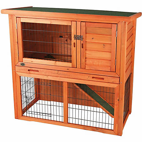 Trixie Pet Products Rabbit Hutch with Sloped Roof, Small