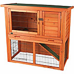 Trixie Pet Products Rabbit Hutch with Sloped Roof, Large