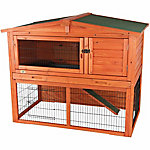 Trixie Pet Products Rabbit Hutch with Attic, Large