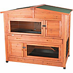 Trixie Pet Products 2 stories Rabbit Hutch with Attic, Large
