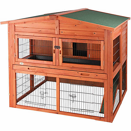 Trixie Pet Products Rabbit Hutch with Attic, Extra-Large