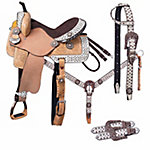 Silver Royal Arizona Belt Buckle Bling Collection 5-Piece Saddle Package