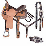 Silver Royal Remington Belt Buckle Bling Collection 5-Piece Saddle Package