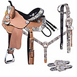 Silver Royal Greyson Belt Buckle Bling Collection 5-Piece Saddle Package