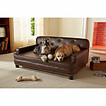 Enchanted Home Pet Ultra Plush Library Pet Sofa, Brown