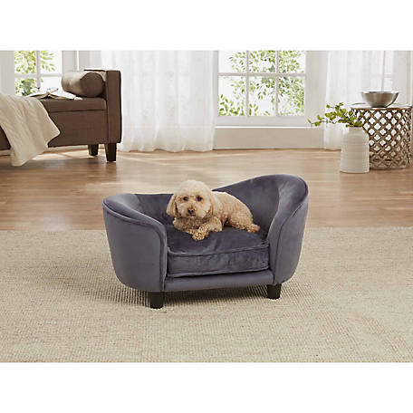 Enchanted Home Pet Ultra-Plush Snuggle Pet Sofa, Dark Gray