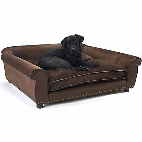 Enchanted Home Pet Ultra Plush Outlaw Pet Sofa, Brown