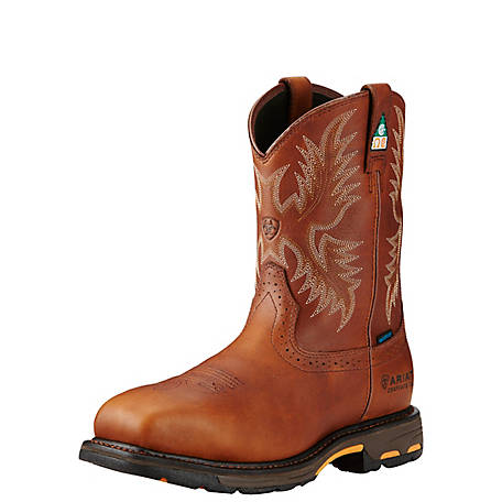 Ariat Men's Workhog Wide Square H20 CSA 11 in. Composite Toe Work Boot