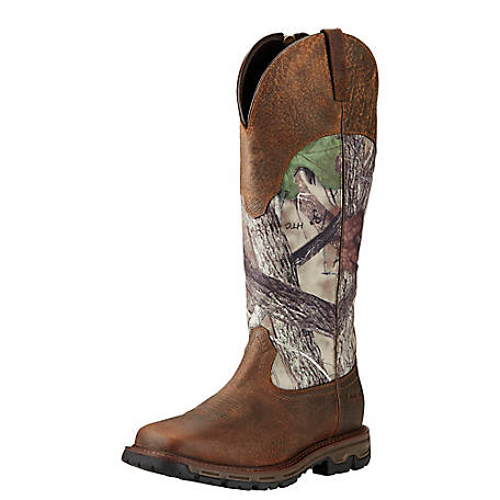c8ed8fb2e70ed Ariat Men's Conquest Wide Square Toe Snake Bite H20 Hunting Boot, True  Timber
