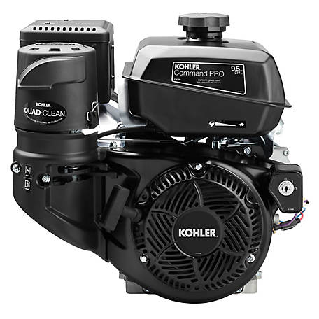Kohler Command PRO Commercial Series 9.5HP Engine, CH395-3031, Crankshaft, 1.0 in. dia., 10A Charging, Recoil &  Electric Start