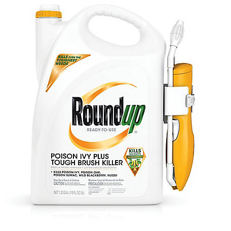 Roundup Ready-To-Use Poison Ivy Plus Tough Brush Killer with Comfort Wand 1.33 gal., 5203910