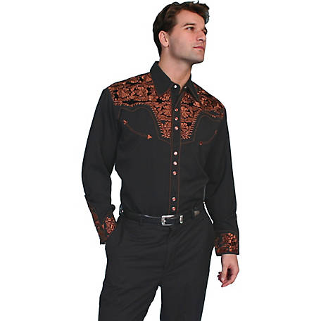 Scully Legends Men's Poly/Rayon Blend Snap Front Shirt