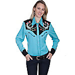 Scully Legends Women's Poly/Rayon Blend Snap Front Blouse