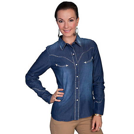 Scully Legends Women's Western Denim Blouse