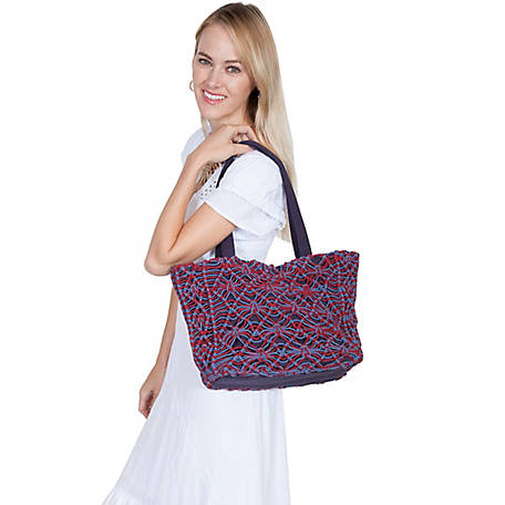 Scully Cantina Collection Two-Toned Macrame Handbag