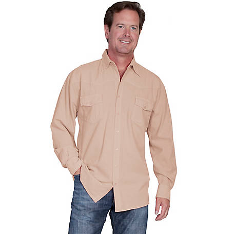 Scully Cantina Collection Men's Peruvian Cotton Button Front Long Sleeve Shirt