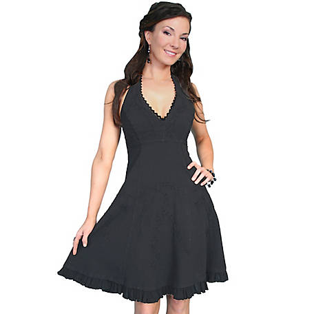 Scully Women's 100% Peruvian Cotton Halter Dress with Soutache Decoration