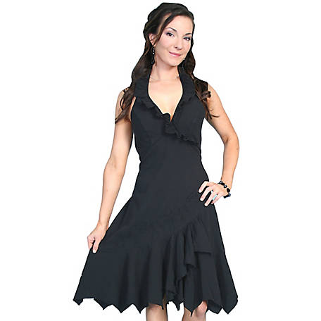 Scully Women's 100% Peruvian Cotton Ruffled Halter Dress