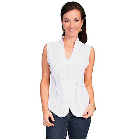 Scully Cantina Collection Women's 100% Peruvian Cotton Sleeveless Blouse