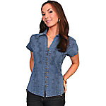 Scully Cantina Collection Women's 100% Peruvian Cotton Capsleeve Blouse