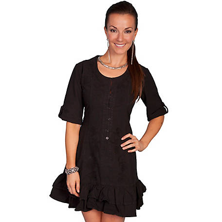 Scully Women's 100% Peruvian Cotton 3/4 Sleeve Dress