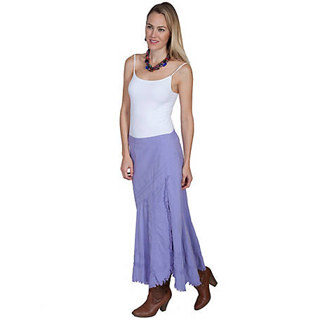 Scully Women's 100% Peruvian Cotton Skirt with Elastic Back