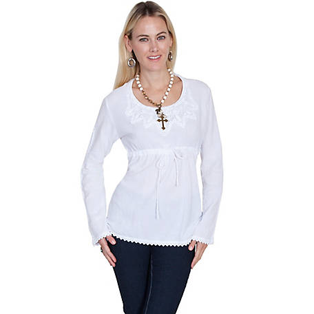 Scully Women's Cotton Pullover Top with Long Sleeves