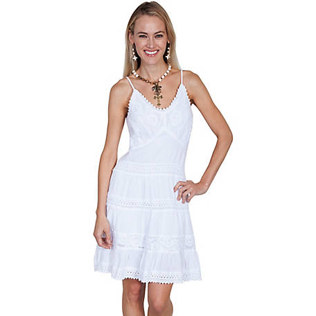 Scully Women's 100% Peruvian Cotton Short Dress with Spaghetti Straps