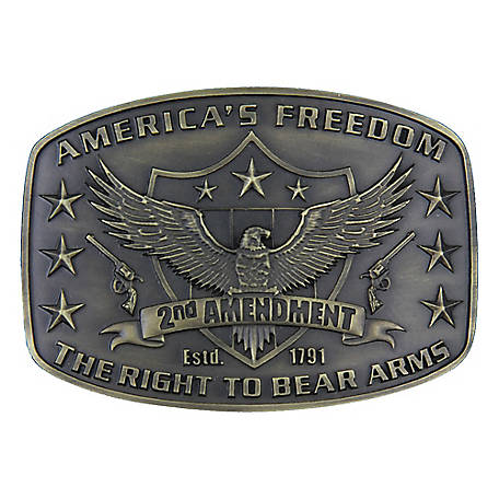 Montana Silversmiths Attitude 2nd Amendment Heritage Belt Buckle