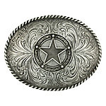 Montana Silversmiths Attitude Star Concho Classic Antiqued Belt Buckle