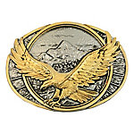 Montana Silversmiths Attitude Soaring Eagle Two-Tone Belt Buckle
