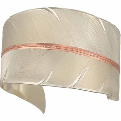 Buy Montana Silversmiths Two-Tone Copper To Fly with Strength and Grace Feather Cuff Bracelet Online