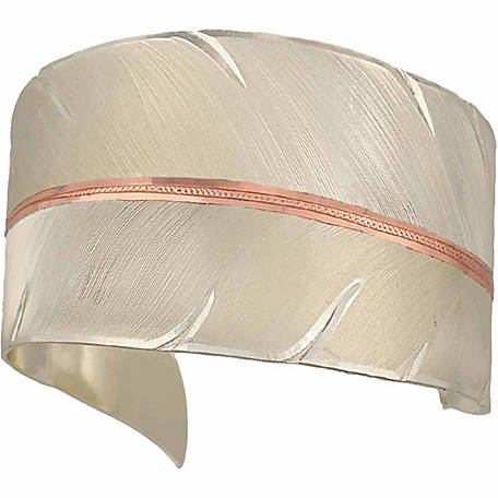 Montana Silversmiths Two-Tone Copper To Fly with Strength and Grace Feather Cuff Bracelet