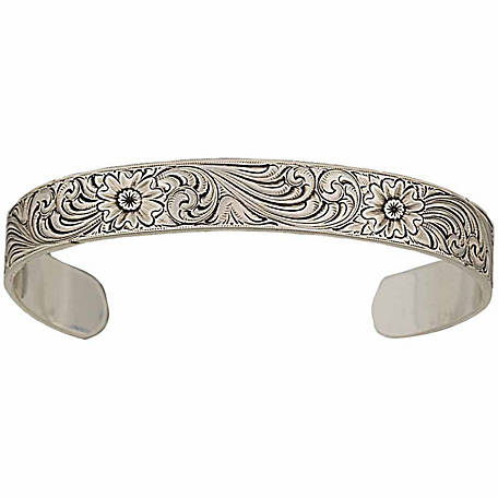 Montana Silversmiths Antiqued Montana Classic Engraved Narrow Cuff Bracelet