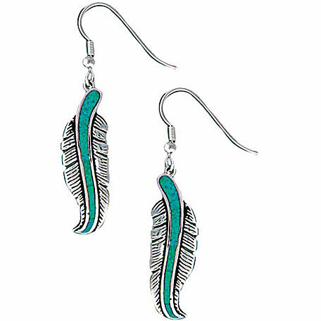 Montana Silversmiths The Storyteller Feather Dangle Earrings