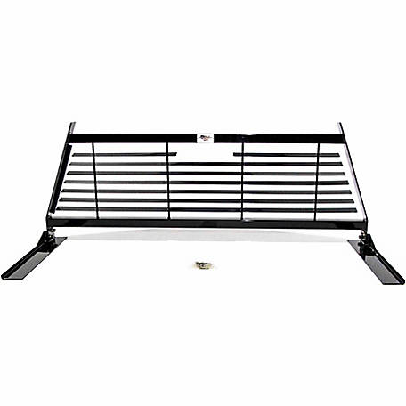 American Built Truck Equipment Ford F150, Dodge 2500/3500, Chevy/GMC 2500/3500 Contractor Headache Rack, Black