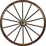 Red Shed Deco Wooden Wagon Wheel, 42 in.