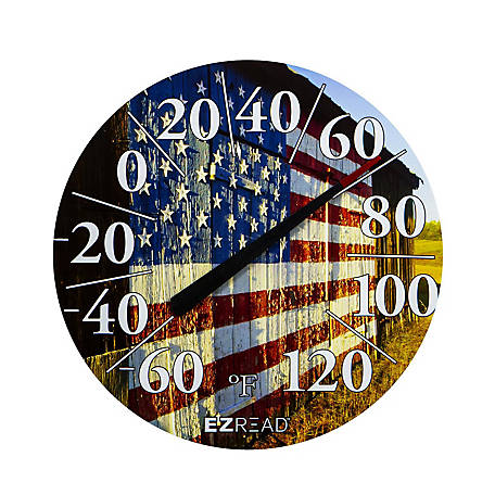 EZ Read 12.5 in. American Barn Dial Thermometer, 840-1232