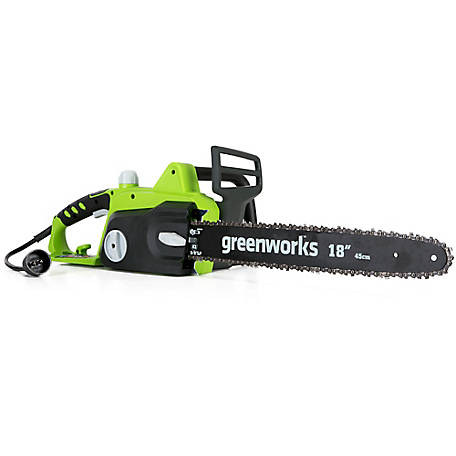Greenworks 14.5A 18 in. Corded Electric Chainsaw, 20332