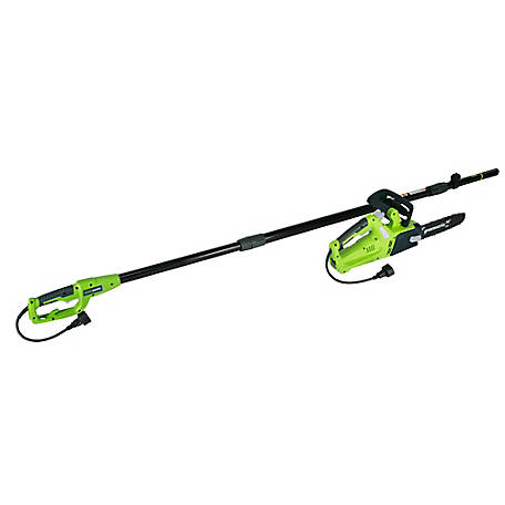 Greenworks 10 in. 6A 2-In-1 Corded Electric Polesaw, 2000202