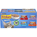 Friskies Savory Shreds Adult Wet Cat Food Variety Pack, 32 ct., 5.5 oz. Cans