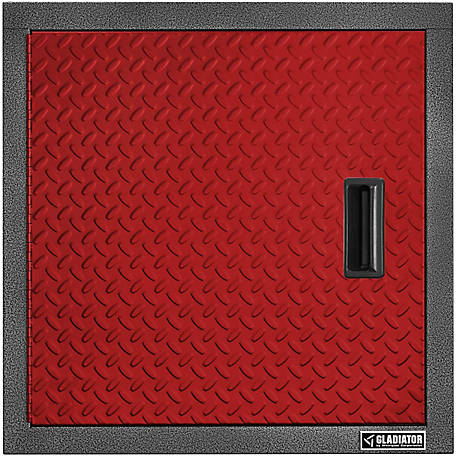 Gladiator Premier Series Steel 24 in. W Garage Wall Cabinet in Racing Red Tread Plate