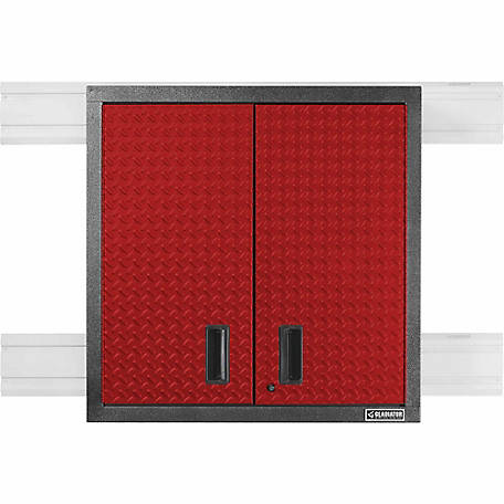 Gladiator Premier Series Steel 30 In. W Garage Wall Cabinet In Racing Red  Tread Plate At Tractor Supply Co.