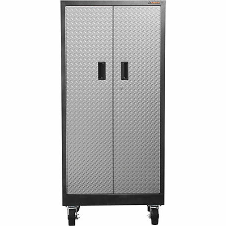 Gladiator Premier Series Steel 66 In H Rolling Garage Cabinet Silver Tread Plate At Tractor Supply Co
