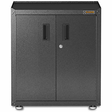 Gladiator Ready-to-Assemble Steel 31 in. H Full-Door Freestanding Garage Cabinet in Hammered Granite