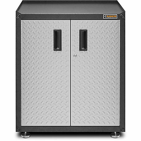 Gladiator Ready-to-Assemble Steel 31 in. H Full-Door Freestanding Garage Cabinet in Silver Tread Plate